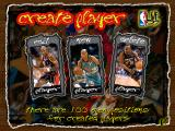 NBA Live 97 DOS Create player screen
