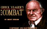 Chuck Yeager's Air Combat DOS Title Screen