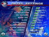 NHL 96 DOS Detail settings screen
