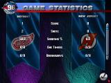 NHL 96 DOS Game statistics screen