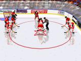 NHL 96 DOS Face off at New Jersey defence zone
