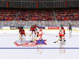 NHL 96 DOS Detroit player with a puck