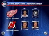 NHL 96 DOS Starting defense lineups