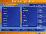 Kick Off 96 DOS Cup Competition screen