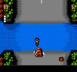 The Ultimate Stuntman NES Driving through shallow wate