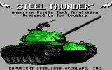 Steel Thunder DOS Title screen (EGA)