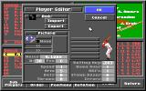 HardBall III DOS The player editor (EGA)