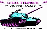 Steel Thunder DOS Title screen (CGA)