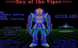 Day of the Viper DOS Title screen (Tandy/PCjr)