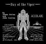 Day of the Viper DOS Title screen (Hercules Monochrome)