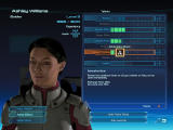 Mass Effect Windows Character information, stats and powers