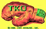 TKO DOS Title screen (CGA)