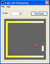 Powerpong Windows Beginning of a game - objective is to reflect the ball