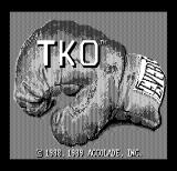 TKO DOS Title screen (Hercules Monochrome)
