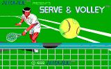 Serve & Volley DOS Title screen (EGA)