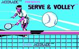 Serve & Volley DOS Title screen (CGA)