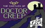 The Castles of Dr. Creep Commodore 64 Spooky title graphics