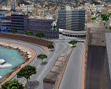 F1 World Grand Prix Windows The streets of Monaco from the helicopter