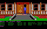 Maniac Mansion DOS Entering the mansion (Enhanced version, EGA)