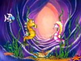 Rainbow Fish and the Whale Windows Mr. and Mrs. Seahorse long for a baby, but can't free her from her flower