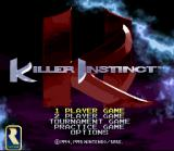 Killer Instinct SNES Title screen with the different game modes