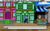 Hero's Quest: So You Want To Be A Hero Atari ST The character is moved with the arrow keys, but most other instructions are typed in like so.  My character is now running!