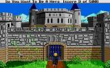 Hero's Quest: So You Want to Be a Hero Atari ST Petitioning at the gates of the Baron's castle.