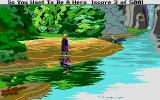Hero's Quest: So You Want To Be A Hero Atari ST Beautiful vistas break up monotonous forest.  (I especially like the reflection!)