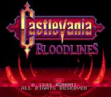Castlevania Bloodlines Genesis Title Screen