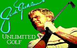 Jack Nicklaus' Unlimited Golf & Course Design DOS Title screen (EGA)