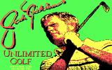 Jack Nicklaus' Unlimited Golf & Course Design DOS Title screen (CGA)
