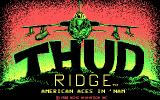 Thud Ridge: American Aces in 'Nam DOS Title screen (CGA)
