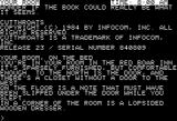 Cutthroats Apple II Starting location (40-column mode)
