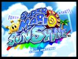 Super Mario Sunshine GameCube Title screen