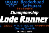 Championship Lode Runner Apple II Title screen