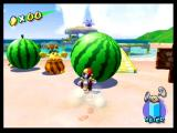 Super Mario Sunshine GameCube Enter a giant watermelon competition
