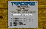 Traders: The Intergalactic Trading Game Atari ST Start menu
