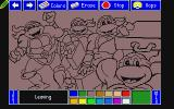 Electric Crayon Deluxe: Teenage Mutant Ninja Turtles: World Tour Atari ST Unpainted first page