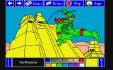 Electric Crayon Deluxe: Teenage Mutant Ninja Turtles: World Tour Atari ST Cowabunga, I'm jumping off of Aztec ruins, dude!
