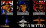 U.N. Squadron Atari ST Choose your character and their vehicle.