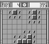 Minesweeper Game Boy At this level, it's easy to find the mines.