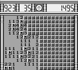 Minesweeper Game Boy The enormous field of level 3
