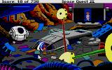 Space Quest III: The Pirates of Pestulon Atari ST There's my ship, the Aluminum Mallard, amongst some very silly detritus