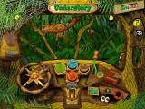 Scholastic's The Magic School Bus Explores the Rainforest Windows The bus dashboard provides many options.