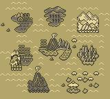 Adventure Island II Game Boy World Map