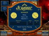 Scrabble Complete Windows The winning player screen