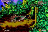 Pitfall: The Mayan Adventure Game Boy Advance Attacking a snake with my knife.