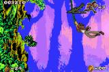 Pitfall: The Mayan Adventure Game Boy Advance Flying through the air on a vine.
