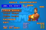 Ready 2 Rumble Boxing: Round 2 Game Boy Advance Training sequence in the Championship mode