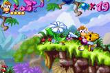 Rayman Game Boy Advance First level completed.